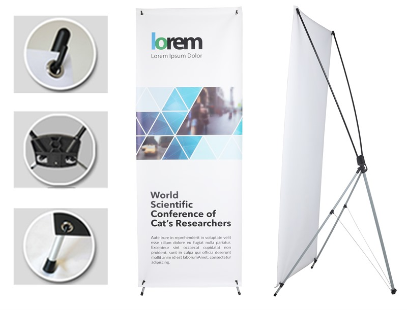 Small X-Frame Banners Indoor Use offer a full-size printing space for