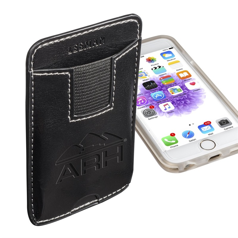 b32b81285f5e Customised Leatherette Smartphone Wallets stay attached to your phone.