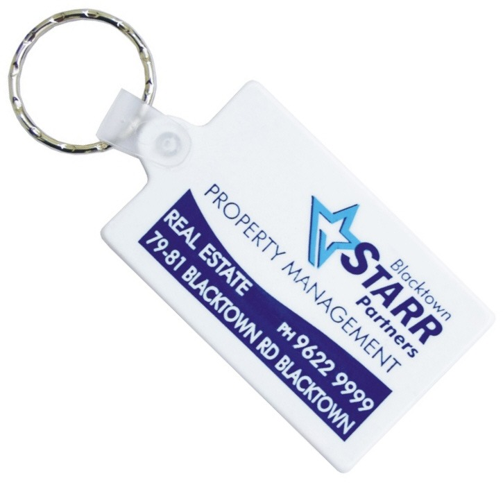 Rectangle Rubber Key Tags are another effective promotional