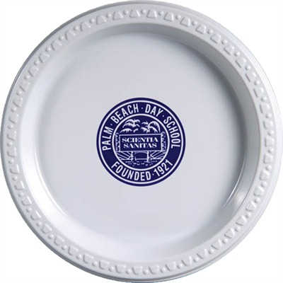 178mm White Plastic Plate