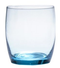 443ml Party Aquamarine Rocks Glass