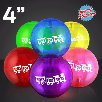 Assorted Impact Activated Light Up Bounce Ball