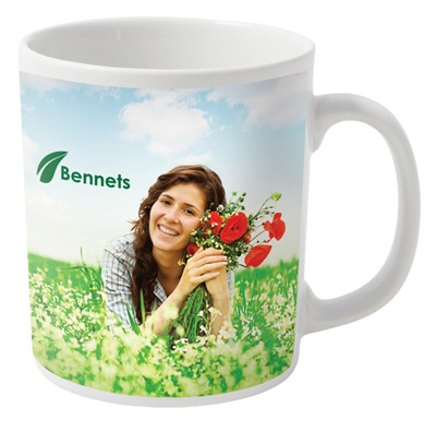 Full Colour Printed Mugs In Standard Can Shaped Mugs Are