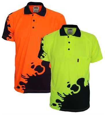 Hi Vis Sublimated Blot Design Polo