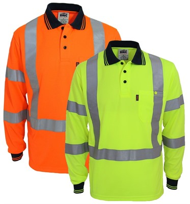 Hi Vis X Back And Biomotion Taped Polo