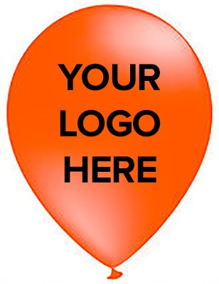Orange Promotional Balloons