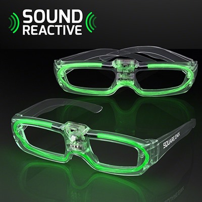 Sound Reactive Green Party Shades