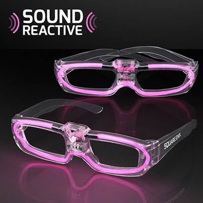 Sound Reactive Pink Party Shades