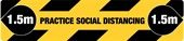 1500x340mm Social Distancing Floor Decal