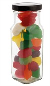 160 gram Large Square Jar Mixed Lollies