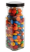185 gram Large Square Jar M&Ms