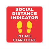 200mm Square Social Distancing Floor Decal