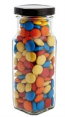 220 gram Large Square Jar Mixed Chocolate Beans