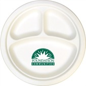 255mm Compostable Compartment Paper Plate