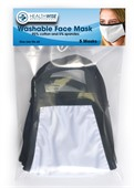 5 Pack White 3 Layer Face Masks