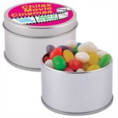 50gm Mixed Coloured Jelly Beans In Round Tin