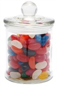65 gram Glass Candy Jar Jelly Beans