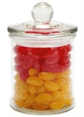 80 gram Glass Candy Jar Corporate Colour Jelly Beans