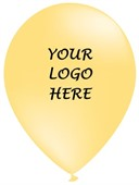 Canary Yellow Printed Party Balloons