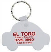 Car Shaped Rubber Key Tag