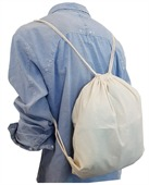 Cheap Drawstring Calico Bag