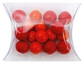 Chocolate Balls Corporate Colours Clear Pillow Box