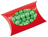 Chocolate Balls Corporate Colours Window Pillow Box