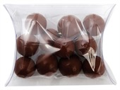 Chocolate Balls Mixed Colours Clear Pillow Box