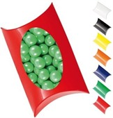 Chocolate Beans Corporate Colours Window Pillow Box