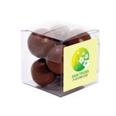Chocolate Malt Balls in Small Cubes