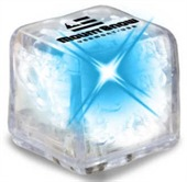 Clear Ice Cube With Blue LED