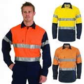 Close Front Hi Vis Cotton Shirt