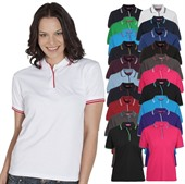 Contrast Ladies Polo Shirt