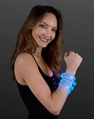 Cosmos Blue Glow LED Laser Engraved Wristband