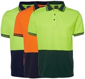 Cotton Backed Hi Vis Polo Shirt