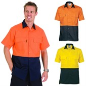 Cotton High Vis Work Shirt