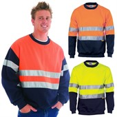 Crew Neck Reflective Tape Hi Vis Sweater