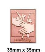 Die Struck Sandblast Lapel Pin