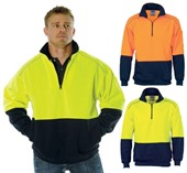 Hi Vis 1/2 Zip Sweat Shirt