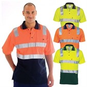 Hi Vis Cotton Back Polo Shirt