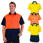 Hi Vis Cotton Drill Shirt