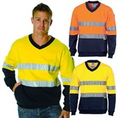 Hi Vis Cotton Fleece Sweat Shirt