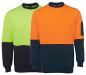 Hi Vis Crew Neck Fleece Top