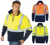 Hi Vis Cross Back Fleece Sweater