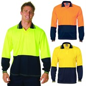 Hi Vis Long Sleeve Food Polo