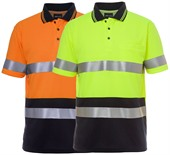Hi Vis Polo With Reflective Tape