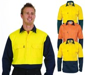 Hi Vis Two Tone Cotton Drill Shirt
