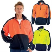 High Collar Fleece Hi Vis Sweater