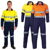 High Vis Two Tone Cotton Coverall