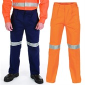 High Visibility Cotton Drill Work Pant